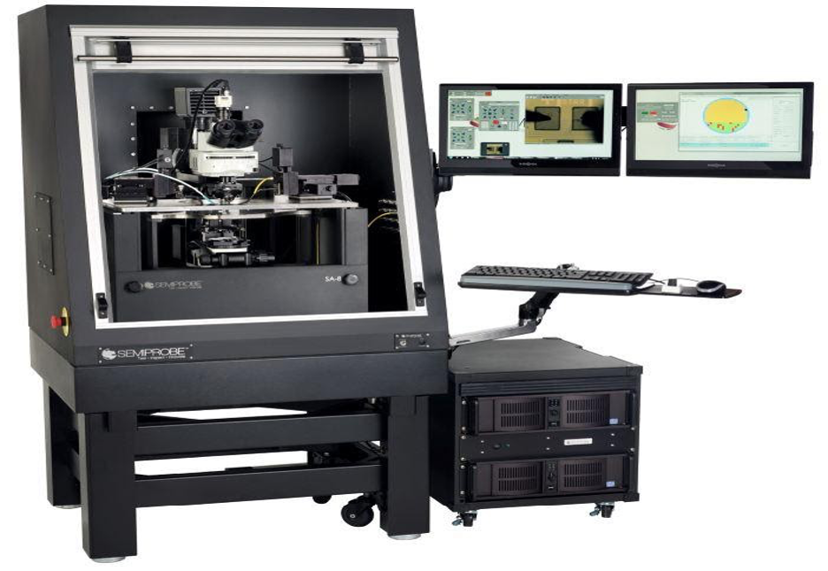 Complete MEMS Prober System - Showing Olympus Metallurgical / Biological Microscope Integrated with a 200 mm Semiautomatic Probe System