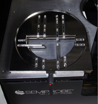 Partial Wafer Carrier for Double-sided Optoelectronics Semiautomatic Wafer Prober