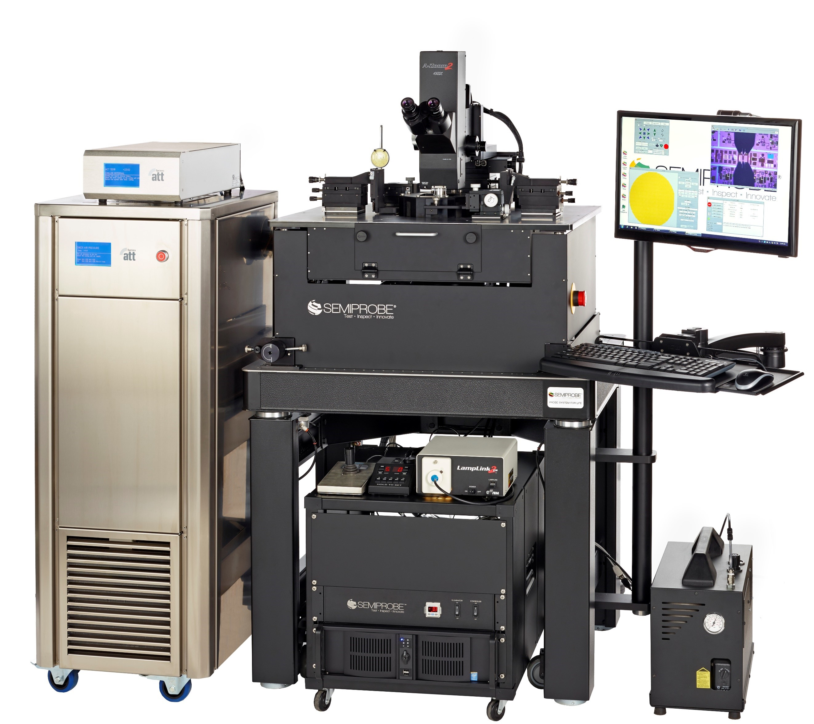 Semiautomatic High Frequency Wafer Prober with RF Probes