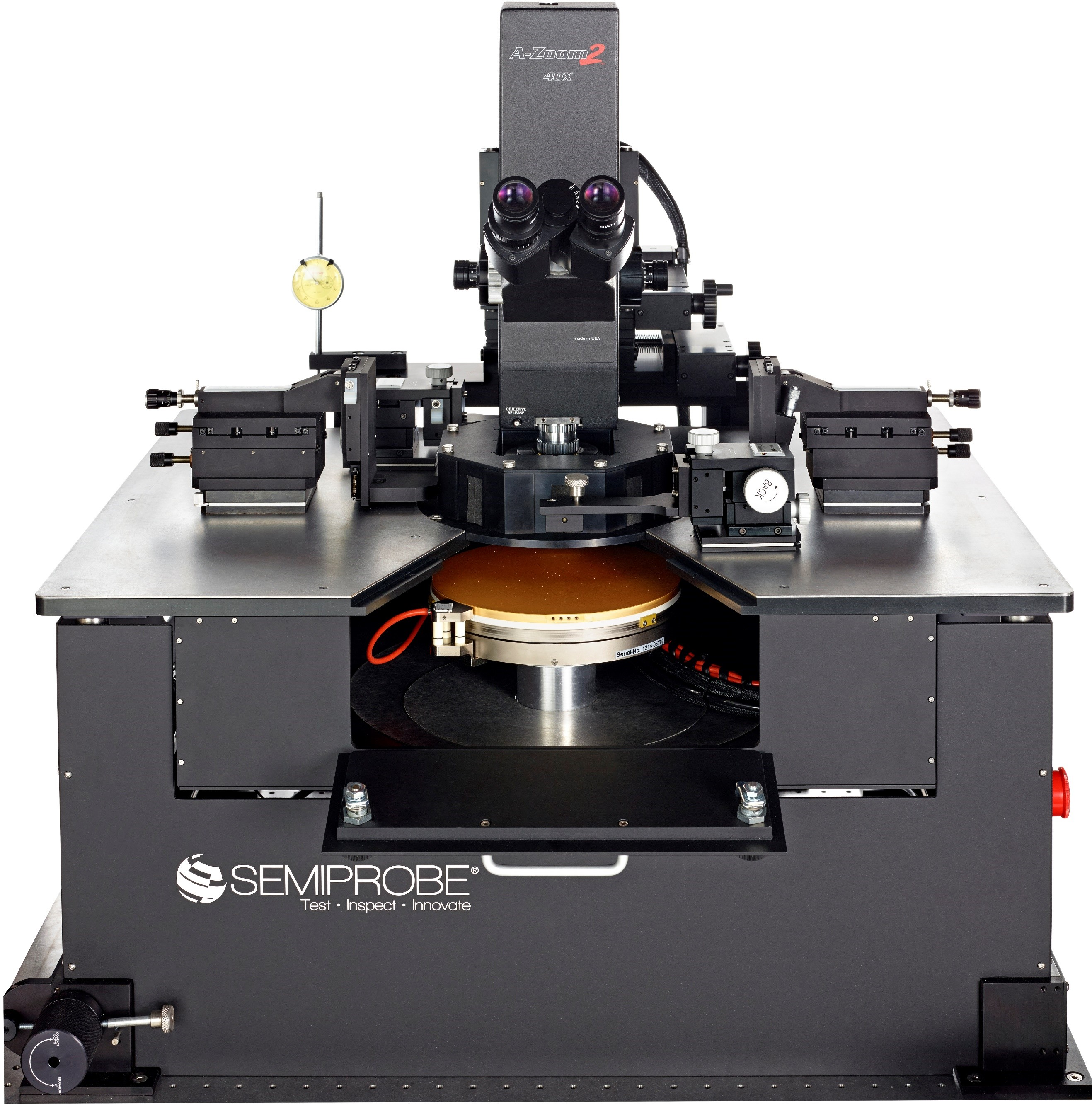 High Frequency Wafer Prober Including RF Probes